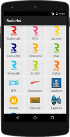 Radionet pour mobile android